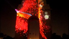 India Gate Laser Show
