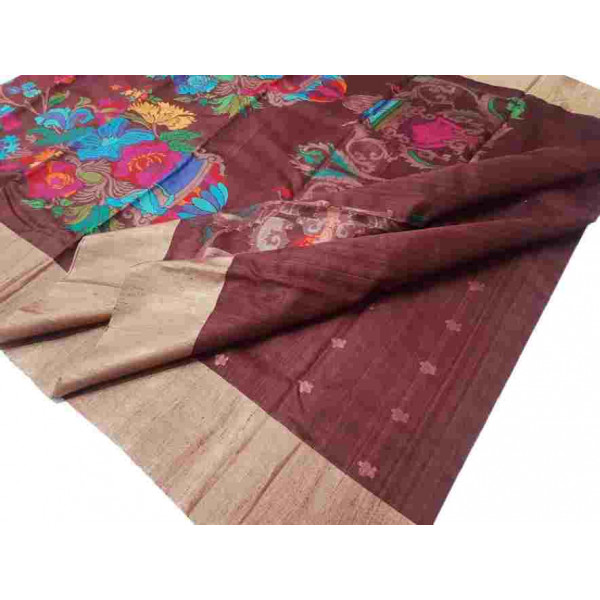 Tussar Silk Chanderi Saree (GP2632)