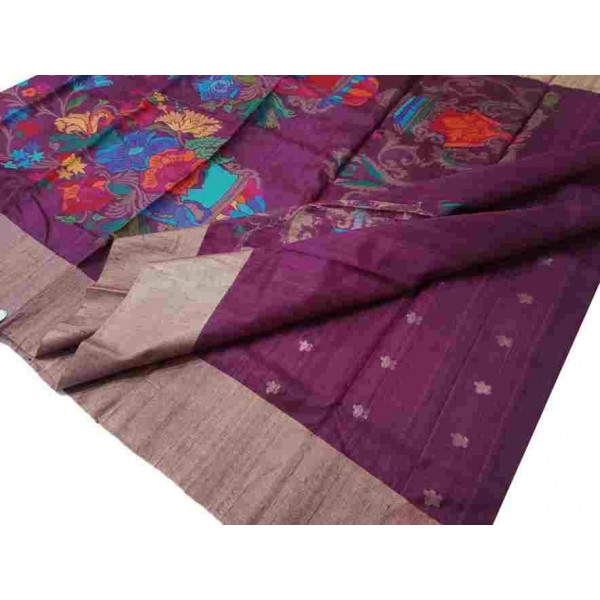 Tussar Silk Chanderi Saree (GP2633)