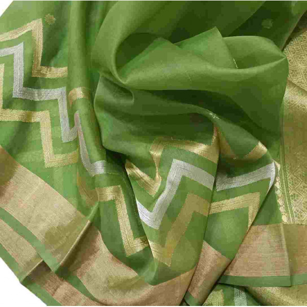 Pure Kataan Silk Chanderi Saree (GP2637)