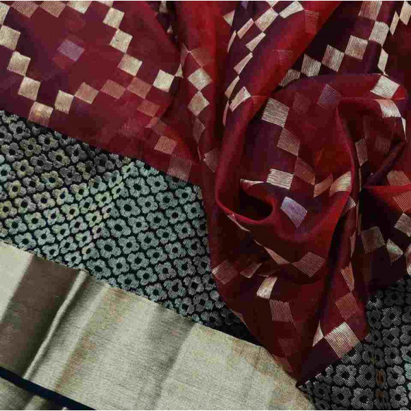 Pure Pattu Silk Chanderi Saree (GP2686)
