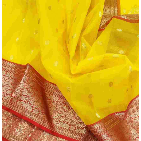 Pure Kataan Silk Chanderi Saree (GP2699)