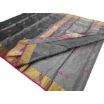 Tissue Chanderi Saree with Silver Tissue (GP4539)