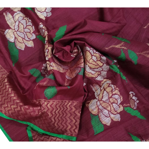 Tussar Silk Chanderi Saree (GP4621)
