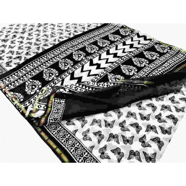 Block Printed Chanderi Saree (P011)