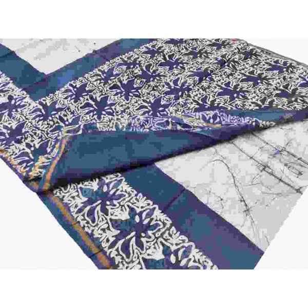 Block Printed Chanderi Saree (P017)