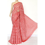 Georgette Hand Embroidered Chikankari Saree with Blouse (LCK4710)
