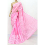 Cotton Lucknowi Chikankari Saree (LCK4761)