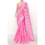Cotton Lucknowi Chikankari Saree (LCK4791)