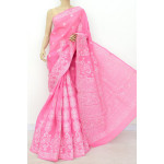Cotton Lucknowi Chikankari Saree (LCK4800)