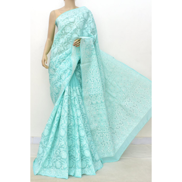 Cotton Lucknowi Chikankari Saree (LCK4847)