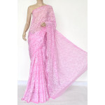 Georgette Hand Embroidered Chikankari Saree with Blouse (LCK4881)