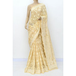 Faux Georgette Lucknowi Chikankari Saree with Allover Mukaish Work (LCK4961)